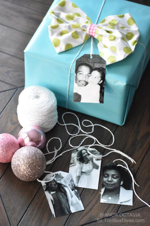 Personalized DIY Photo Gift Tags