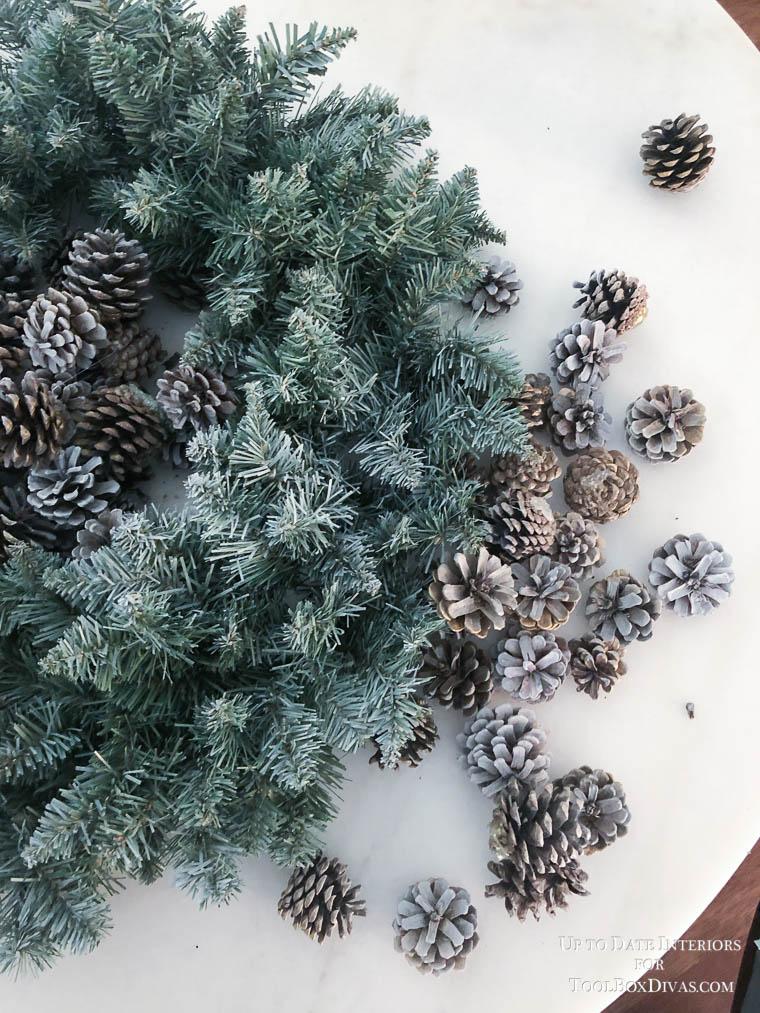 Winter Wreath ideas recycle Christmas into the Winter Decorations @ToolBoxDivas DIY Ideas