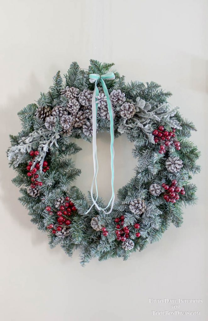 Winter Wreath ideas recycle Christmas into the Winter Decorations @ToolBoxDivas