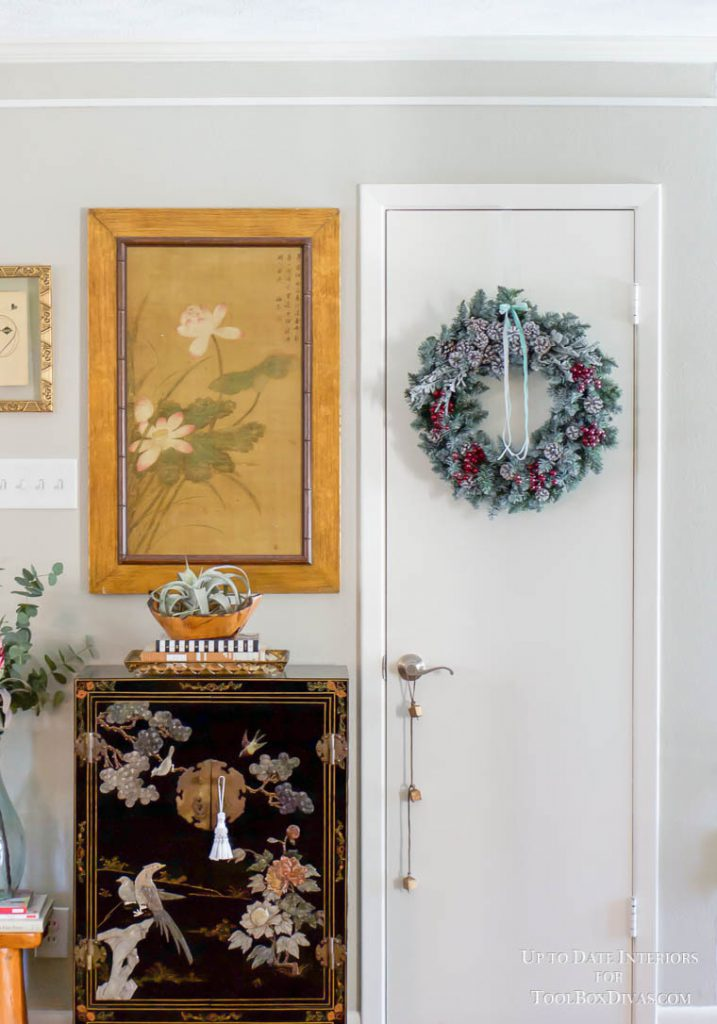 Winter Wreath ideas recycle Christmas into the Winter Decorations @ToolBoxDivas After Chritmas
