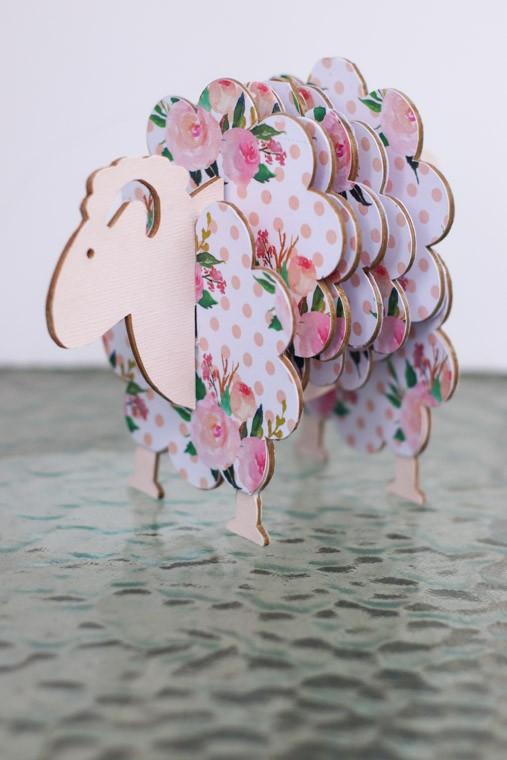 DIY Sheep Coasters using chipboard and a Cricut Maker