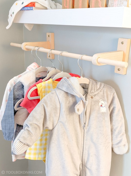 DIY Wall Mounted Clothing Rack For Kids: A Nap Time DIY