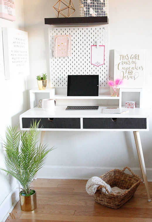 Mid Century Modern Desk With Monitor Stand and Free Plans