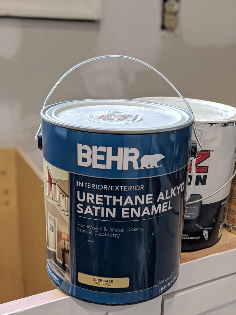 Natures Gift Cabinet paint by Behr @toolboxdivas