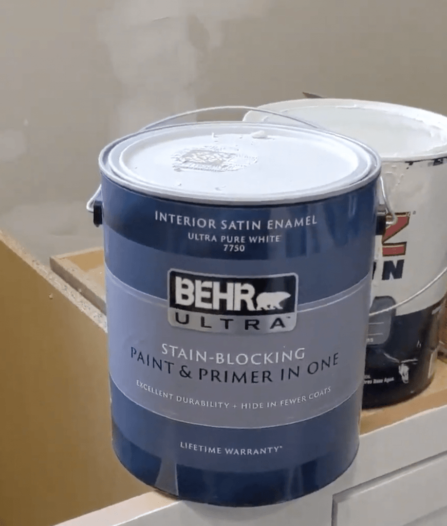 Behr Smoky White Paint for the walls @ToolboxDivas
