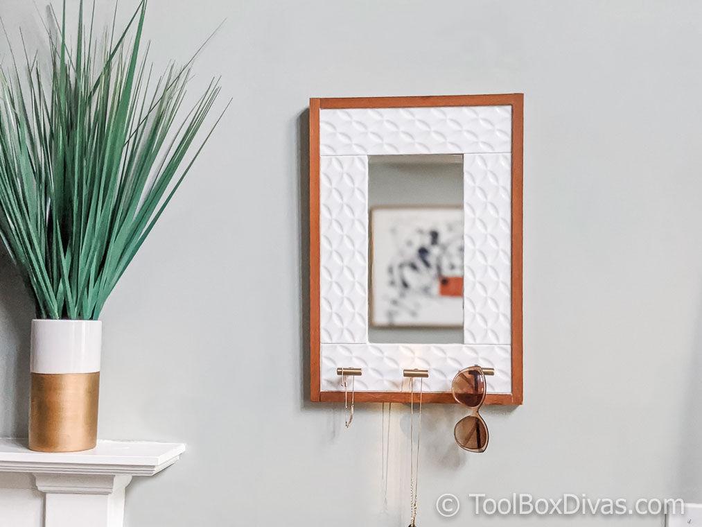Tiled Mirror with Jewelry Storage