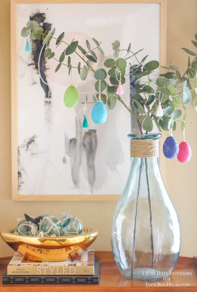 washi eggs on eucalyptus