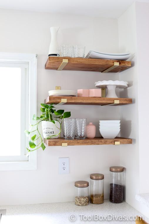 DIY Modern Farmhouse open Shelves