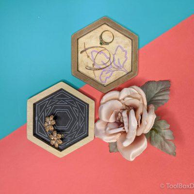 DIY Hexagon Jewelry Dish or tray or organizer