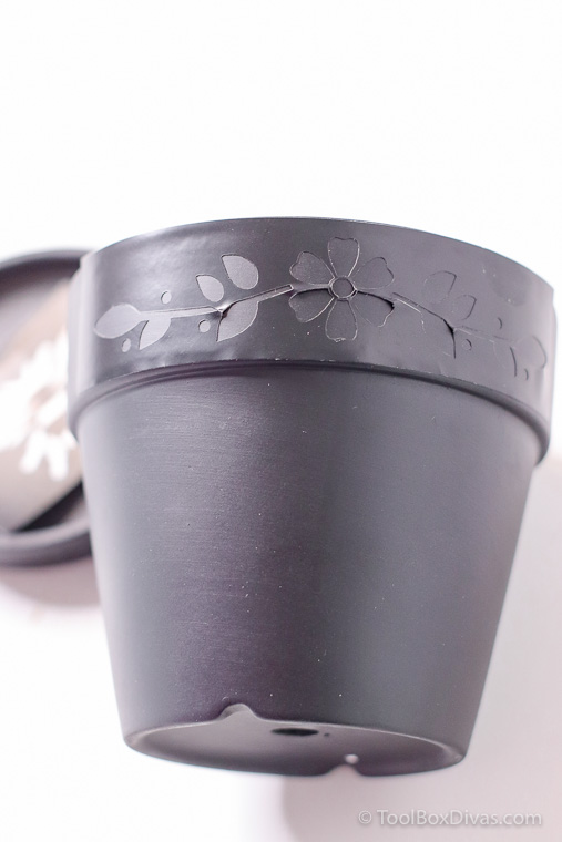 How to Etch a Terra Cotta Pot with this Easy Etching Tool 4 Simple Steps stencils