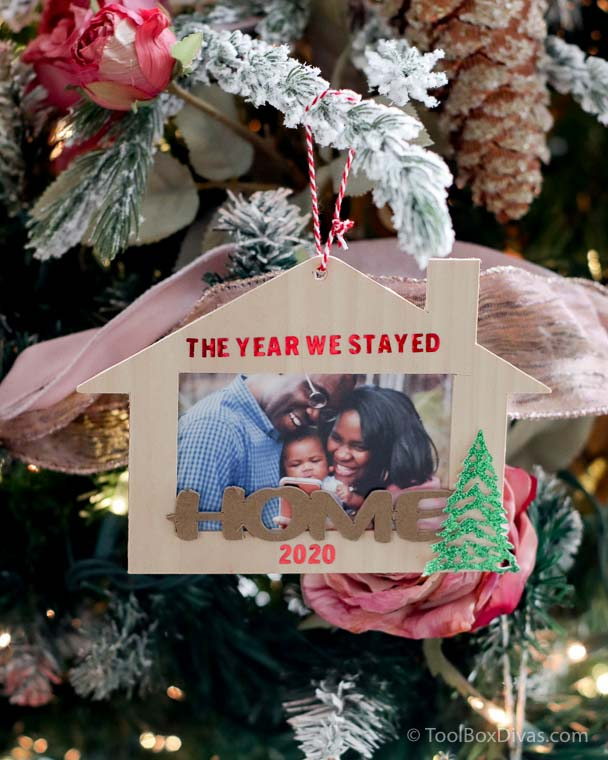 Gift a personalized Christmas Ornament Made With the Cricut Maker