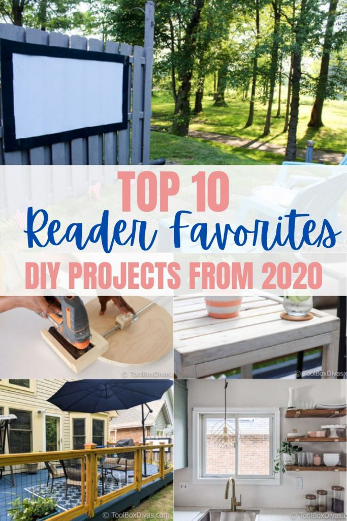 collage of projects from 2020 with text Top 10 Reader Favorites from 2020
