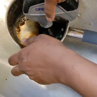 How to Clean a Burnt Pan in 10 Minutes @ToolBoxdivas (12 of 24)