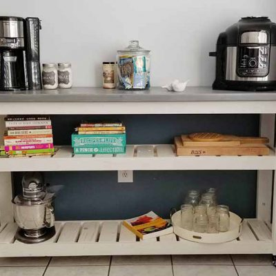 kitchen cart with shelves on wheels