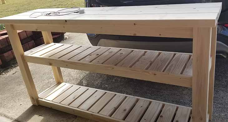 completed cart with slat shelves
