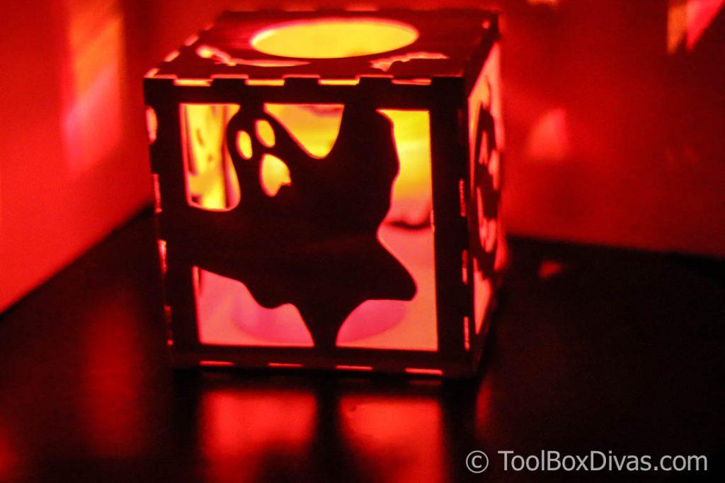 DIY Woodworking project Halloween Lantern using Cricut Maker