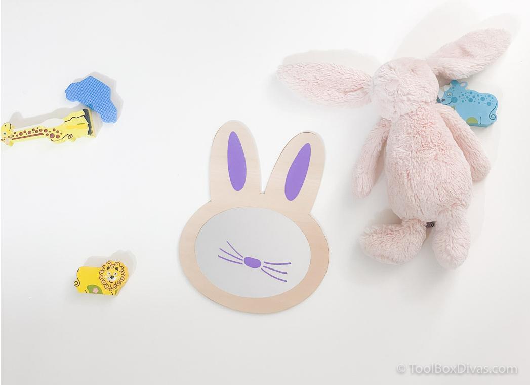 How to Create an Adorable Bunny Mirror for a Unisex Nursery