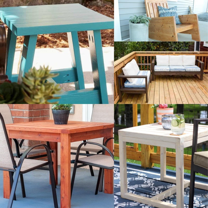 25 DIY Wood Outdoor Furniture Project Ideas