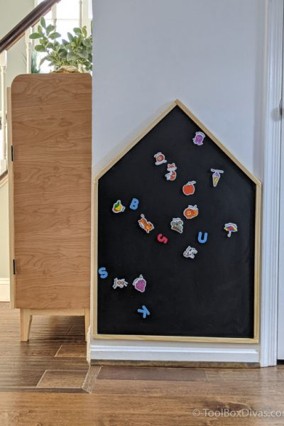 How to Make a House Shaped Magnetic Chalkboard for Cheap _ Toolbox Divas (16 of 43)