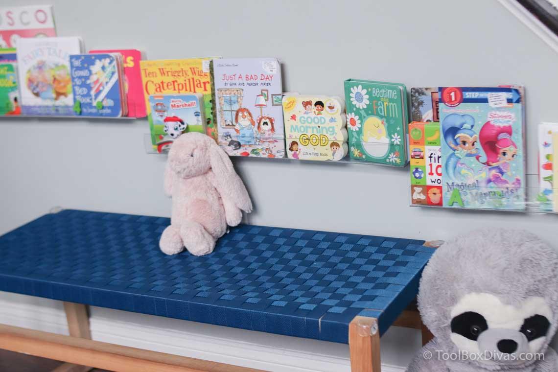 How To Make an Acrylic Book Ledge | Toddler Bookshelf