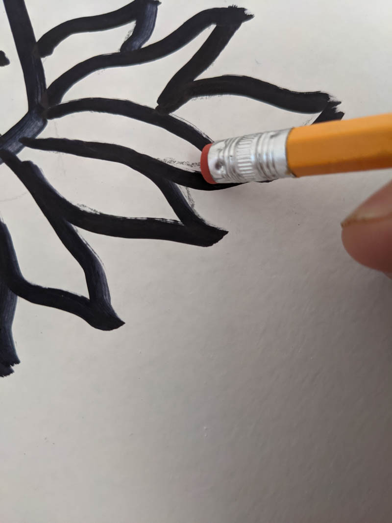 erasing pencil marks from sharpie wall mural