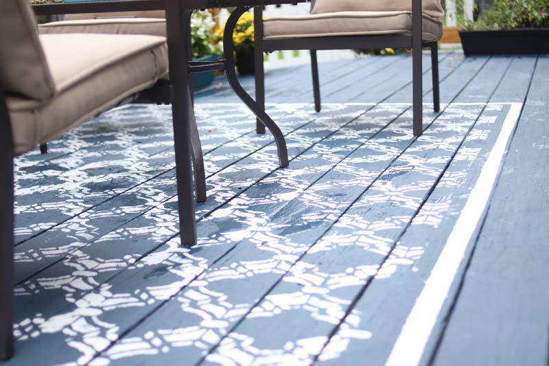 How to Make Your Own Painted Deck Rug