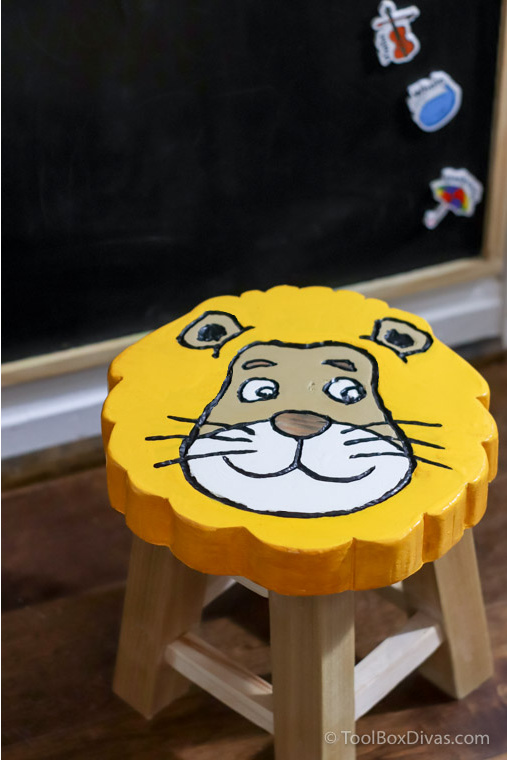 How to Make a Lion Shaped Wooden Animal Stool - Toolbox Divas (14 of 90)
