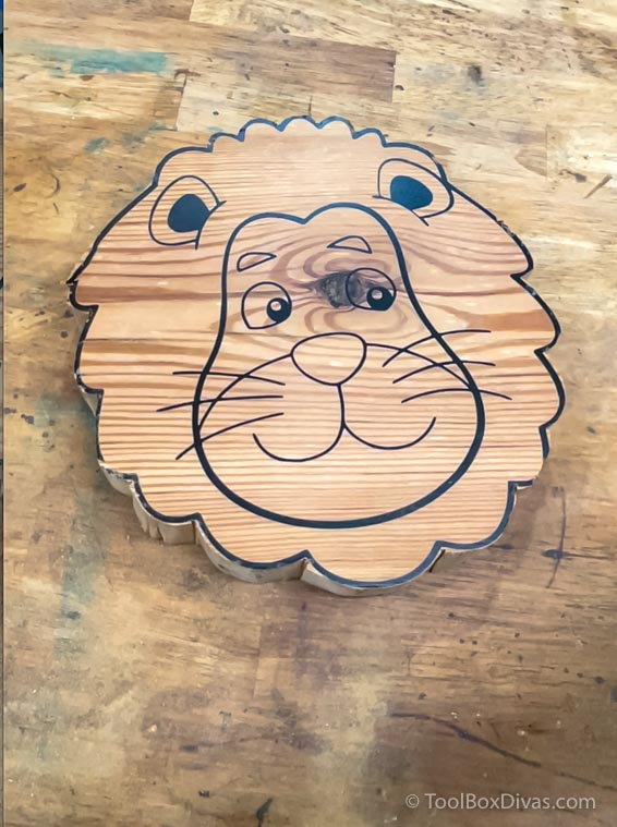 How to Make a Lion Shaped Wooden Animal Stool - Toolbox Divas (35 of 90)