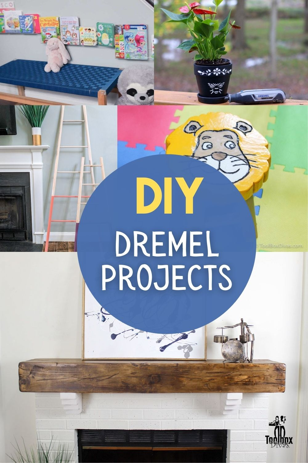image collage of DIY Dremel projects with text overlay