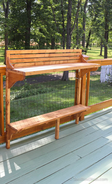 How to Make a Balcony Bar Table Use as a Desk outdoors - Toolbox Divas (16 of 35)