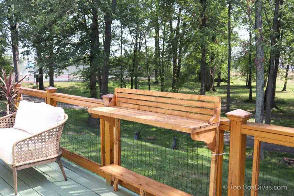 How to Make a Balcony Bar Table Use as a Desk outdoors - Toolbox Divas (2 of 9) enjoy working outdoors