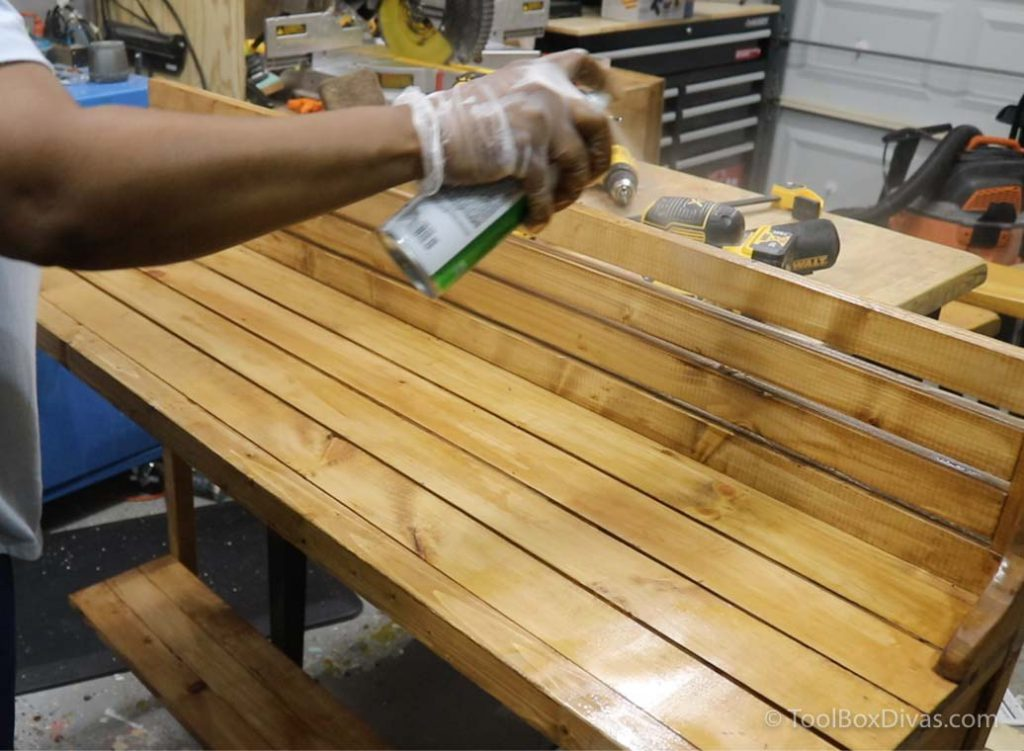 How to Make a Balcony Bar Table Use as a Desk outdoors - Toolbox Divas (2 of 9)